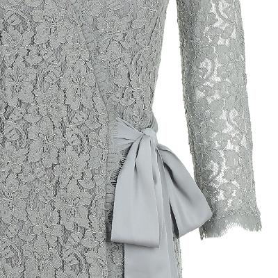 lace long sleeve wrap dress